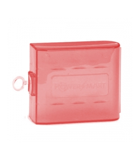 Cutie pentru 4 acumulatori R6 (AA) - Rosie