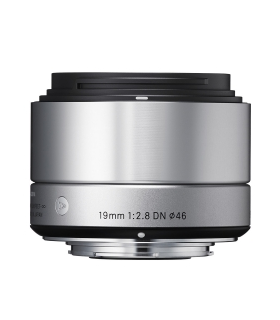 Sigma 19mm F2.8 DN Art argintiu - montura Micro Four Thirds