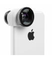 OlloClip sistem lentile 3-in-1: Fisheye, Wide-Angle, Macro pentru iPhone 5c - alb
