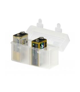 Cutie plastic pentru 4 acumulatori 9V