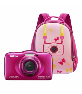 Nikon Coolpix S32 backpack kit - roz