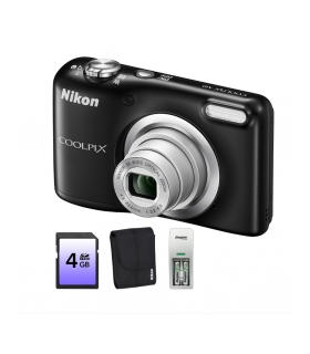 Nikon Coolpix A10 Black + card4 Gb + husa + incarcator