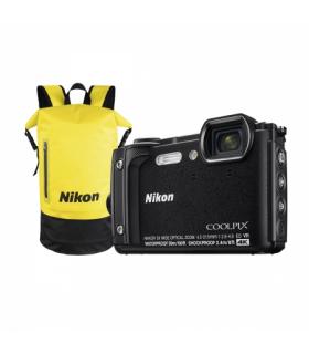 Nikon Coolpix W300 - Aparat foto compact Waterproof, video 4K, Wi-Fi, Negru