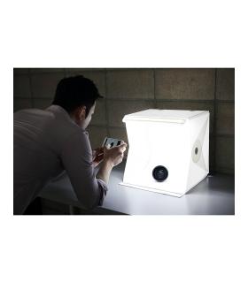 Foldio 2 -  cub foto led cu trepied si suport telefon
