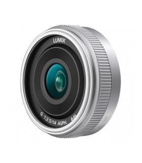 Panasonic Lumix G 14mm f/2.5 II ASPH, Argintiu