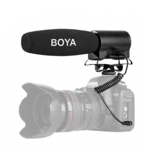 Microfon shotgun cu flash recorder integrat Boya BY-DMR7