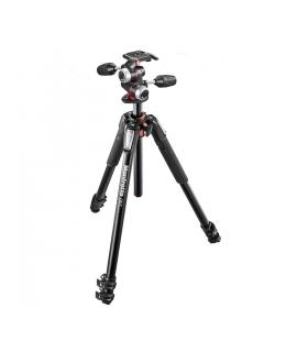 Manfrotto MK055XPRO3-3W kit picioare trepied 3 sectiuni aluminiu + cap 3 way