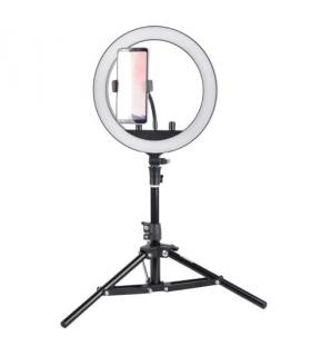 Lampa circulara cu led reglabila Studio King SKRL10 cu stativ (set vlogger)
