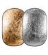 Blenda 2 in 1 auriu/argintiu 90x120 cm Linkstar