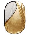 Blenda 2 in 1 auriu/argintiu 60x90 cm Linkstar