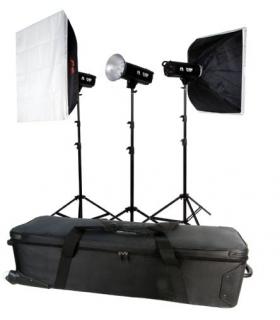 Kit blitz de Studio Falcon Eyes TFK-3400A cu geanta