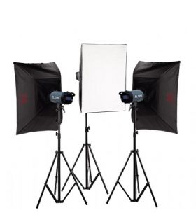 Kit studio Falcon Eyes Studio TFK-3400L cu LCD Display