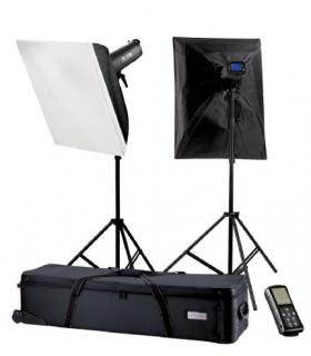 Kit blitz de Studio Falcon Eyes TFK-2900L cu LCD-Schirm