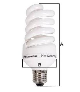 Bec spiralat lumina continua Falcon Eyes E27 28W ML-28